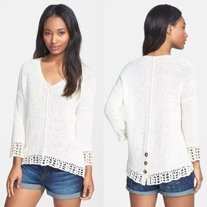 Lucky Brand | Ivory Issy Mix Stitch Pullover